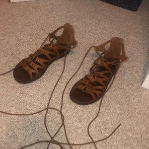 American Eagle Lace-Up Sandals